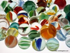 Marbles. Cat-eyes were my favorite. When I went to college, my mother threw out my marble collection. I still collect them - probably trying to compensate and overcome the childhood trauma!