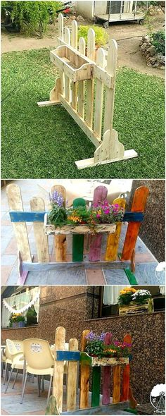 wooden pallets planter art 1