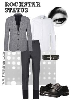 Rockstar Status by wallststylist on Polyvore featuring Lanvin, Maison Margiela, Emporio Armani, Alexander McQueen, Givenchy, men's fashion and menswear www.WallStreetStylist.com