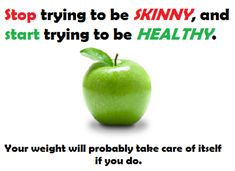 exercise and eat right to be #HEALTHY . everything else will fall into place.