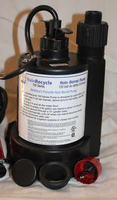 The Rain Barrel Depot  - RainRecycle Rain Barrel Pump, $89.00 (http://www.therainbarreldepot.com/rainrecycle-rain-barrel-pump/)