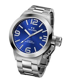 Men's Wrist Watches - TW Steel Mens CB12 Stainless Steel Watch with Blue Dial *** For more information, visit image link.
