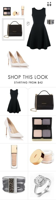 """""""Dream big"""" by sarahhyland221 ❤ liked on Polyvore featuring Emporio Armani, Givenchy, Jimmy Choo, Kevyn Aucoin, Clarins, Yves Saint Laurent, Kenneth Cole and Ciner"""
