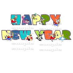 disney happy new year 2015 fabric t shirt transfer free file download 5 x 7