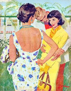 """""""A Summer Place"""", illustration by Joe Bowler for McCall's, 1958"""