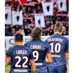 Lavezzi, Cavani and Ibrahimovic  PSG