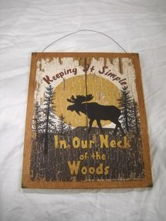 Cabin Wall Art moose cabin wooden wall art sign lake lodge hunting nature decor