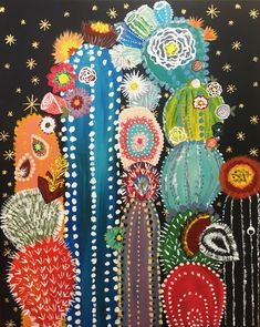 kunst Cactus by Taylor Rae How To Buy A Persian Rug A Persian rug is not only a home decoration, it Cactus Drawing, Cactus Painting, Cactus Wall Art, Painting & Drawing, Cactus Cactus, Indoor Cactus, Cactus Decor, Cactus Flower, Garden Painting