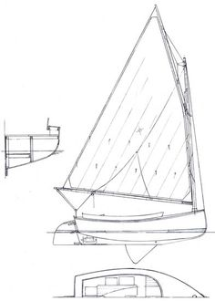 16' River Lapwing Catboat