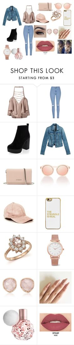 """Outfit"" by blossomtopgirl on Polyvore featuring Balmain, Glamorous, New Look, White House Black Market, Givenchy, BaubleBar, Bloomingdale's, Larsson & Jennings, Monica Vinader and Smashbox"