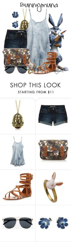 """E. Aster Bunnymund - Summer - Dreamwork's Rise of the Guardians"" by rubytyra ❤ liked on Polyvore featuring Alcozer & J, Aéropostale, DreamWorks, Uye Surana, Nica, Tory Burch, Yves Saint Laurent, Sian Bostwick Jewellery, Summer and dreamworks"