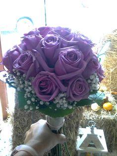 Bouquet de rosas lilas
