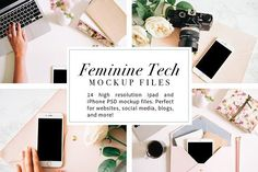 50 % OFF Feminine Tech Mockups by The Inspired Editorial on @creativemarket