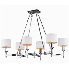 Metrolume Island Chandelier -$709 Shades of Light Over Kitchen Table