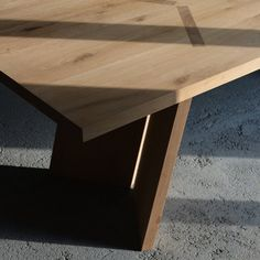 / shadow play / oak table that we made in collaboration with / Shadow Play, Oak Table, Woodworking Shop, Collaboration, Studio, Furniture, Instagram, Design, Home Decor
