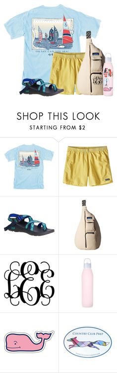 """Camp set "" by flroasburn ❤ liked on Polyvore featuring Patagonia, Chaco, Kavu, Vineyard Vines and Southern Proper"