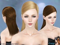 Cazy's Midnight Wish - Hairstyle - Adult