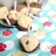 Chocolate Chip Cookie Dough Ball Bites
