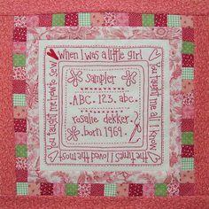 Block 8 - Rosalie Quinlan designs - Love Is quilt