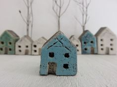 A miniature house made in clay