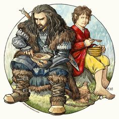 "Dinner with Thorin by Rinter.deviantart.com on @deviantART - Thorin and Bilbo from ""The Hobbit"""