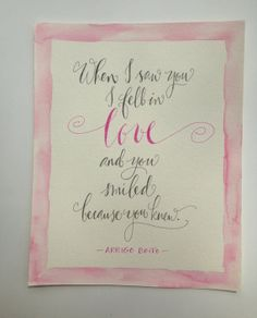 Calligraphy Quotes by Kristen Henderson Calligraphy