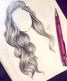 I wish my hair could look like this drawing lol #ad