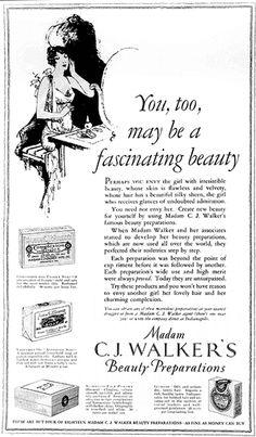 Madame CJ Walker Photographs : Madame Walker - Beauty Ad