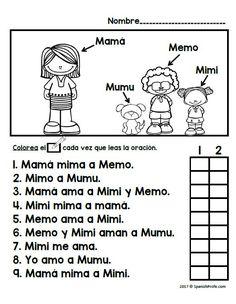 Letra M ma me mi mo mu Alphabet Writing Practice, Reading Practice, Handwriting Practice Worksheets, Elementary Spanish, Spanish Classroom, Teaching Spanish, Preschool Spanish, Learning Sight Words, Spanish Lessons