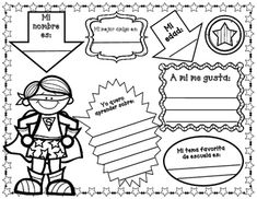 Todo sobre mi para la primera semana de la escuela..No Jitterz on the first day of school for you with this super fun and educational Spanish Todo sobre mi.  Superhero theme! Your students will love starting the first day of school with these Spanish Super Hero writing activities This Superhero theme All About Me can be used from Pre-Kindergarten thru 5th grade.