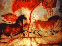 After Lascaux, Niaux other prehistoric painted caves, the marvellous Altamira cave caused shame and scandal in Archaeology Lascaux Cave Paintings, Art Pariétal, Stone Age Art, Cave Drawings, Art Antique, Aboriginal Art, Ancient Artifacts, Horse Art, Magazine Art