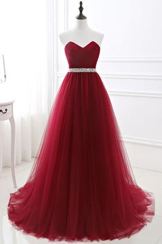 Looking for designer prom dress online? Check out this burgundy tulle ball dress at ballbella.com, fast delivery worldwide. Extra coupons to save a lot. Cheap Short Prom Dresses, Affordable Prom Dresses, Prom Dresses For Sale, Cheap Evening Dresses, A Line Prom Dresses, Tulle Prom Dress, Prom Dresses Online, Ball Dresses, Homecoming Dresses