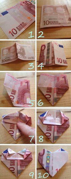 DIY geldbriefje vouwen❤️