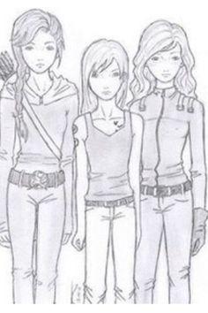 Katniss (Hunger Games) Tris (Divergent) June (Legend)