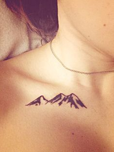 simple mountain tattoo More