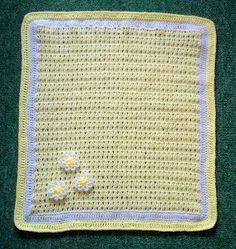 Daisy Crochet Baby Blanket | AllFreeCrochet.com