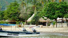 Boat ride: Taganga to Playa Grande (Santa Marta - Colombia)    Desert beach...