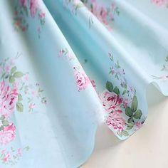 Romantic Beddings Quality Blue Big Flower Floral Printed 100% Cotton Fabric clothes bedding sewing cloth patchwork-in Fabric from Home & Garden on Aliexpress.com | Alibaba Group
