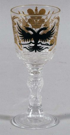 Russian Imperial Wine Glass from Palace service of Czar Nicholas II, Sold! $2,300 at Fairfield Auction www.fairfieldauction.com