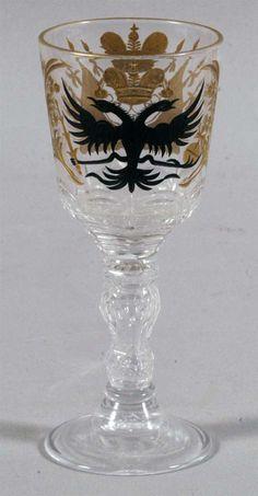 Rusia Imperial Copa de Vino del servicio palacio del zar Nicolás II.