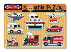 Melissa & Doug Vehicles Sound Puzzle – 8 Pieces