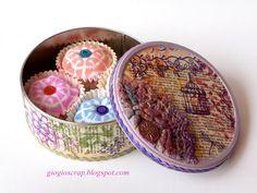 Scrap in Progress-DIY Fabric cupcakes