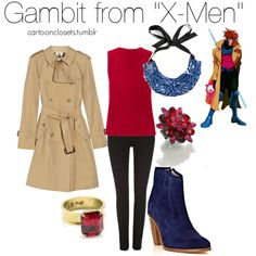 """""""Reader Request: Gambit"""" by bforbel on Polyvore"""
