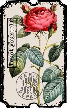 Create with TLC: Another Friday Freebie.vintage flower that can be printed. Vintage Tags, Vintage Diy, Vintage Labels, Vintage Ephemera, Vintage Paper, Vintage Prints, Vintage Posters, Vintage Clip Art, Decoupage Vintage