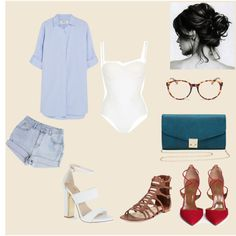 Summer party by jovanajevtic91 on Polyvore featuring moda, MiH Jeans, La Perla, Aquazzura, Carvela, Paul Andrew, M&Co and Michael Kors