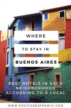 Where to stay in Buenos Aires - Neighborhoods Guide by a local #BuenosAires #Argentina #besthotels #accommodation #affordablehotels #SouthAmerica #travel