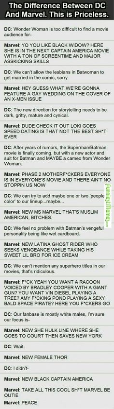 Funniest Memes - [The Difference Between Dc And Marvel...] Check more at http://www.funniestmemes.com/funniest-memes-the-difference-between-dc-and-marvel/