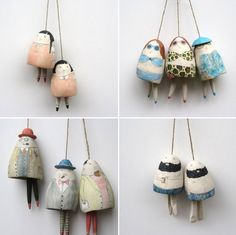 Handpicked: The Quirky Characters of Yen Yen Lo — A Good Yarn Ceramic Clay, Ceramic Pottery, Pottery Art, Spool Crafts, Diy Resin Crafts, Cerámica Ideas, Crea Fimo, Kids Clay, Hand Built Pottery