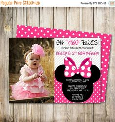 30% OFF WEEKEND SALE Minnie Mouse Birthday by ThePaperTrailCo