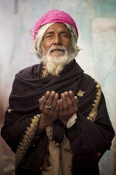 A Muslim man in Varanasi, India.